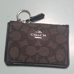 Black coach card wallet